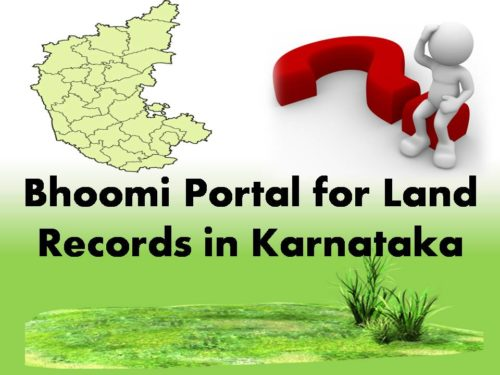 Bhoomi Portal for Land Records in Karnataka